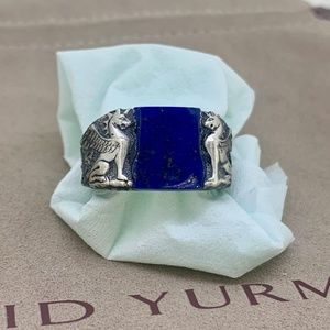 David Yurman Griffin Ring with Lapis Lazuli
